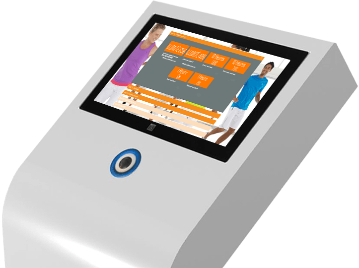 Resamania le logiciel fitness du groupe StadLine - La borne tactile