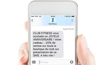 club fitness sms automatisé